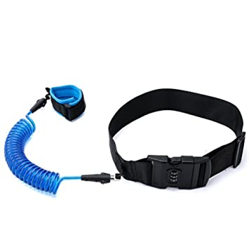 Child Safety Anti Lost Wrist Link Harness With Lock Wristband Kids Leash Blue