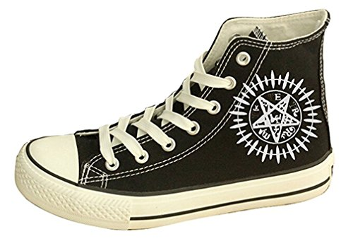 Bromeo Black Butler Unisexe Toile Salut-Top Sneaker Baskets Mode Chaussures
