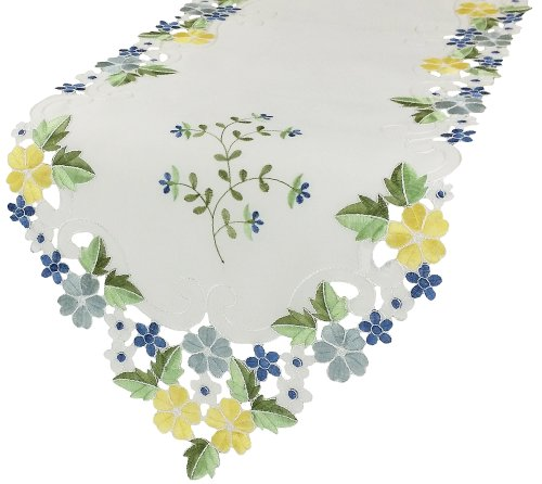 Xia Home Fashions Flowers Embroidered