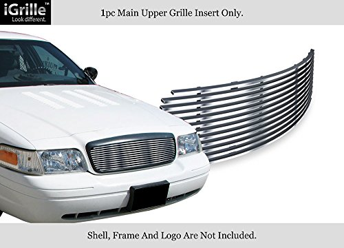 (APS Compatible with 1998-2012 Ford Victoria Honeycomb Style Upper Stainless Billet Grille F65939C)