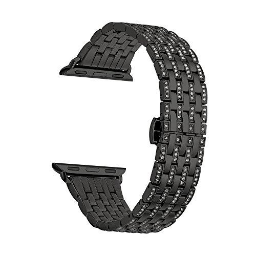 Kartice Rhinestone Stainless Bracelet Models 42mm