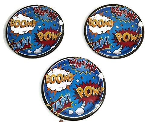 Superhero Slogans Birthday Party Plates (24)