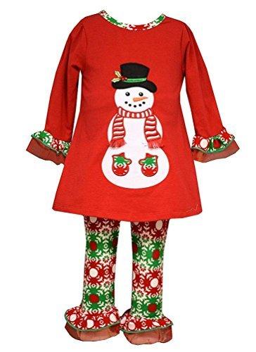 Bonnie Baby Christmas Outfits - Bonnie Baby Girls Snowman Legging Set