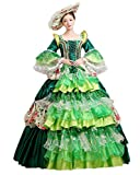 Zukzi Women's Retro Lace Rococo Baroque Gown Queen Party Dress (Green US 16)