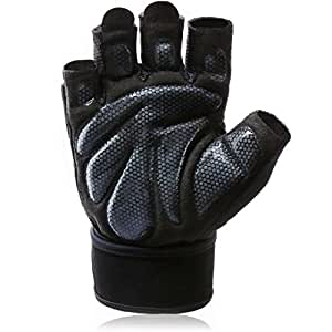 Aoliga Workout Gloves with Wrist Wrap Support for Weightlifting, Training , CrossFit , Fitness, Anti-Slip Breathable Fabric, best Weight Lifting Gym Gloves, Pair, Small