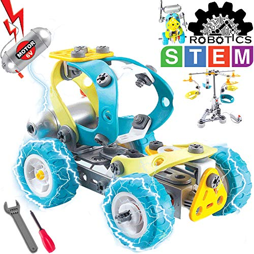 GILI STEM Toys for Boys & Girls Age 7, 8, 9, Construction Learning Toys for Building Games, 5 in 1 Motorized Robotics Kit for 6-10 Year Old Kids, Fun Gifts for Children]()