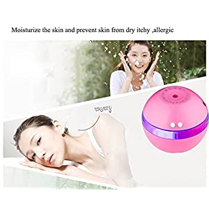 300 ml Ultrasonic Cool Mist Humidifier with Super Mute Operation, Automatic Shut-off,Perfect for Baby and Kids(Pink)