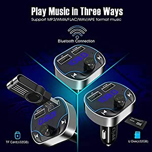 517DkyROJML. SS300  - Clydek-FM-Transmitter-for-Car-Bluetooth-50-Car-Radio-Audio-Adapter-with-Dual-USB-Charging-Port-MP3-Player-Car-Charger-Support-Hands-Free-USB-Stick-SD-Card