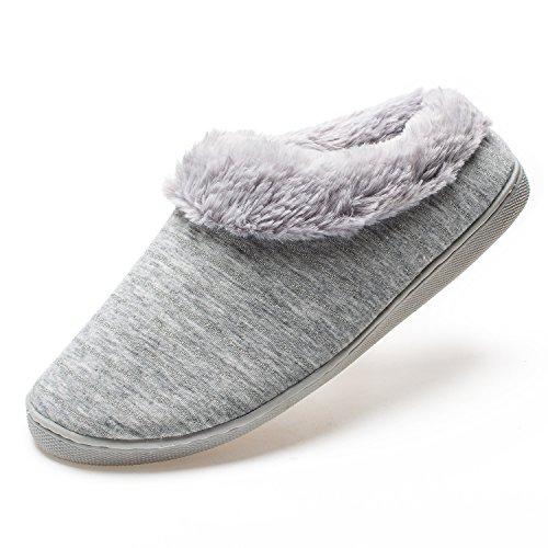 FAMY Women's Comfort Cotton Anti-Skid Sole Indoor Outdoor House Slippers