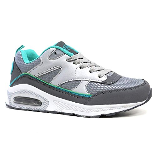 Shoes Air Fitness Trainers Silver Running Mint Tech Ladies Absorbing 8 4 Size Sports Shock Gym zYFwxq5