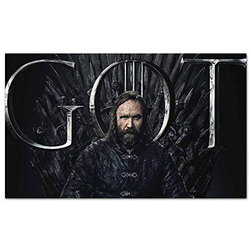 Cowspring Anime Posters Sandor Clegane Hound Game of Thrones Season 8 Poster Pop Art Wall Decor for Home Office Decorations Framed 35