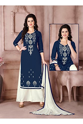 Wedding Facioun Salwar Indian 10 Women Anarkali Partywear Kameez Blue Ethnic Traditonal Designer Da qS0Zxwdq