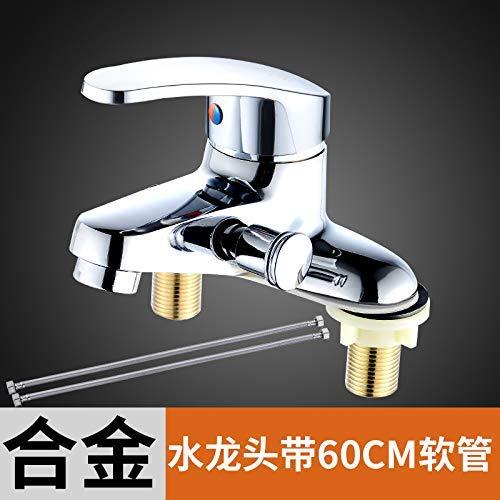 V XINXI HOME Mixing valve faucet double hole with shower bath set mixing valve wash basin dual use shower faucet, copper body faucet negative ion set M (color   T)