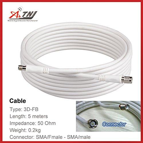 atnj 5 m Cable coaxial 3d-fb RG58 cable de extensión de 16 pies N ...
