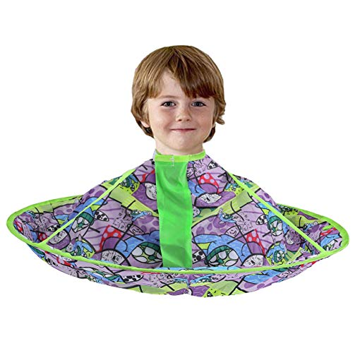 CCbeauty Children Barber Cape for Kid Salon Cape Haircut Umbrella Catcher Hairdresser Styling Cape and Apron Waterproof (#2)