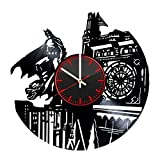 Welcome Everyday Arts Batman Gotham City Vinyl Record Wall Clock - Get unique home or garage wall decor - Gift ideas for his and her – DC Comics Unique Art Design