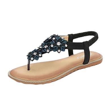 Sommer Flache Schuhe Weibliche Bohemia Sandalen Clip on Mode Sandalen Bohemia  Amazon ... d31175