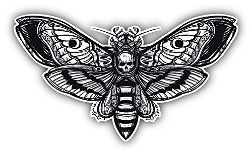 Deaths Head Hawk Moth Window Truck Car Bumper Sticker Decal 5'' x - Truck Hawk