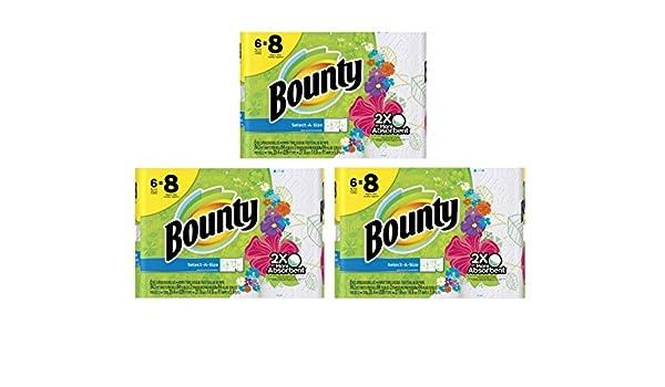 Bounty select-a-size toallas de papel, impresiones, rodillo grande, 6 Count: Amazon.es: Hogar
