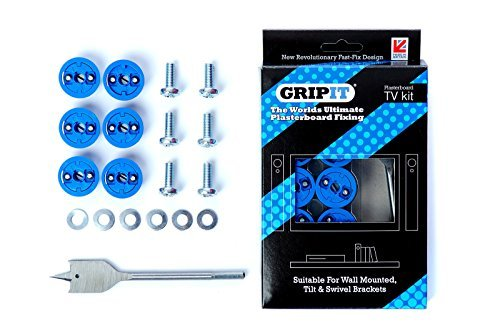 Price comparison product image Grip-It TV Bracket Plasterboard Fixing Kit by GripIt