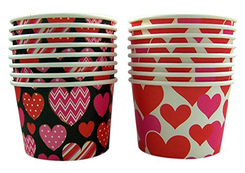 Valentine's Day Heart Snack Cup Party Supplies, 16 Count
