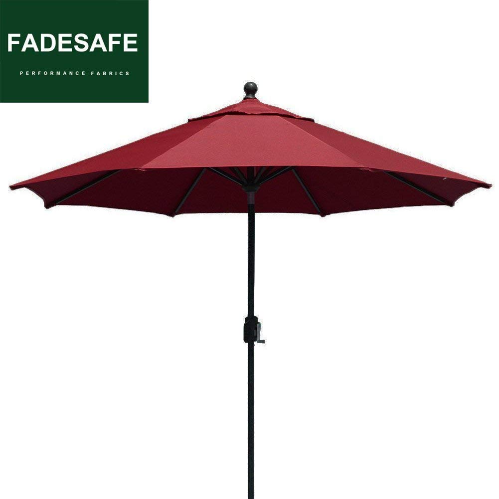 EliteShade 9Ft Market Umbrella Patio Outdoor Aluminum Backyard Table Umbrella (Burgundy) by EliteShade (Image #1)