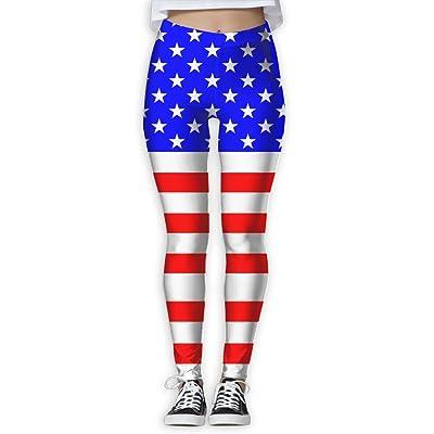 American Flag Novelty Health Fitness Women Yoga Pants Leggings Power Flex