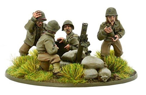 Bolt Action Us Army Heavy Mortar Team Blister - Metal - Heavy Mortar