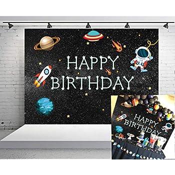 Amazon.com : DANIU Blue Space Galaxy Stars Background ...