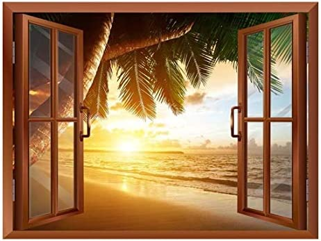 Sunrise on Caribbean Beach Removable Wall Sticker/Wall Mural - 24
