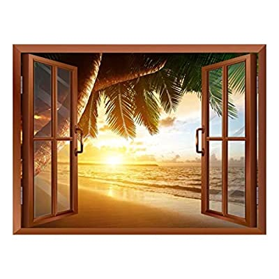 Sunrise on Caribbean Beach Removable Wall Sticker Wall...