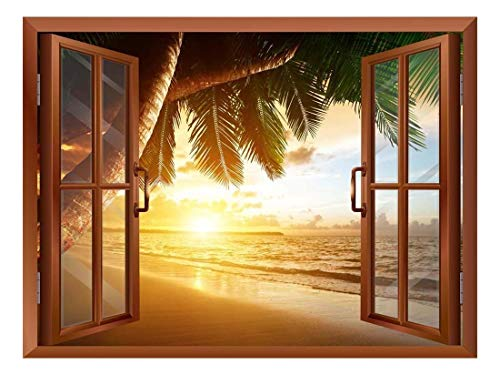 Sunrise on Caribbean Beach Removable Wall Sticker Wall Mural