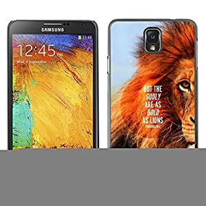 Planetar® ( Lion Text Mane Inspiring Quote Summer ) SAMSUNG Galaxy Note 3 III / N9000 / N9005 Fundas Cover Cubre Hard Case Cover