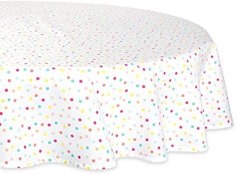 Easter and Everyday Use Multi Polka Dots Easter and Everyday Use Baby Shower DII Round Cotton Tablecloth for Spring Wedding Birthday Party 70 Round 70 Round CAMZ38754