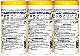 Amazon Brand - Solimo Disinfecting Wipes, Lemon