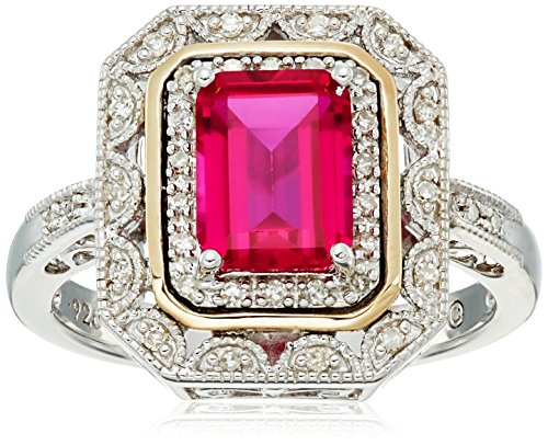 art deco ruby ring - 2
