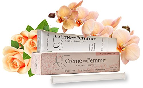 Creme De La Femme, Naturally End Vaginal Dryness: Created by A Woman Doctor, Hormone-Free, Glycerin-Free, Alcohol-Free, Vaginal Dryness Relief, Won't Cause Yeast Infection, Includes Free Applicator