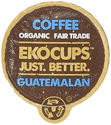 EKOCUPS Artisan Guatemalan Coffee, Medium Roast, in Recyclable Single Serve Cups for Keurig K-cup Brewers, 10 count