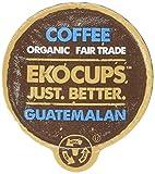 EKOCUPS Artisan Guatemalan Coffee, Medium Roast, in Recyclable Single Serve Cups for Keurig K-cup Brewers, 10 count