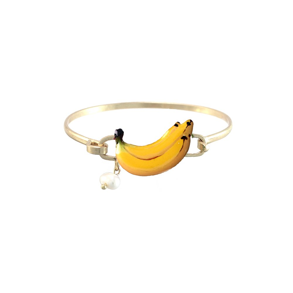 Wonderent Yellow Banana Summer Fashion Bangle Bracelet