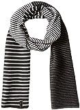 Calvin Klein Men's Ombre Stripe Jersey Muffler Scarf, Black, One Size