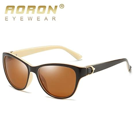 Yangjing-hl Gafas de Sol polarizadas ovaladas Mujer Gafas de ...