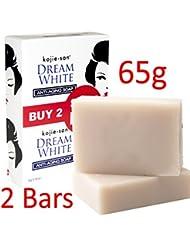 2x-65g-2x 65g Kojie San DREAM WHITE Skin Whitening Anti-Aging Kojic Acid Soap Bars