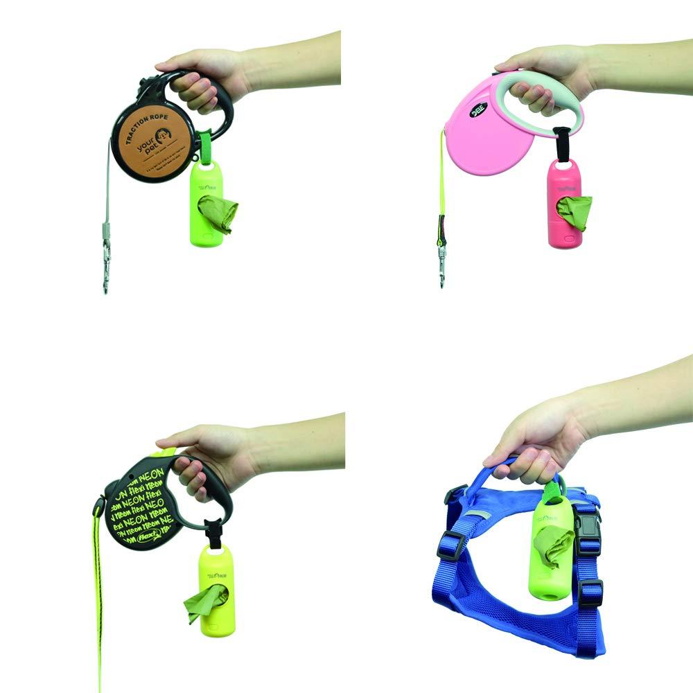 Amazon.com : YOURPET LED Flashlight Dog Waste Bag Holder, Dog Poop Bag Dispenser with Waste Bags(15 Bags) : Pet Supplies