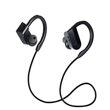 Givekoiu-Headsets Auriculares inalámbricos, Bluetooth Negro, Auriculares inalámbricos Bluetooth 4.2, Banda para el Cuello, micrófono, Deportes para ...