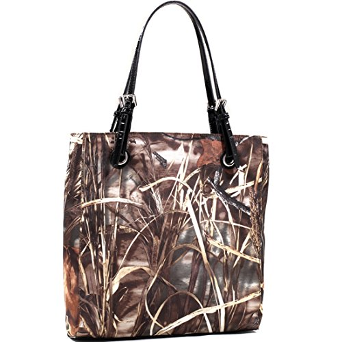 Belted Shopper Handbag (Realtree Classic Square Camouflage Tote Bag with Belted Straps)