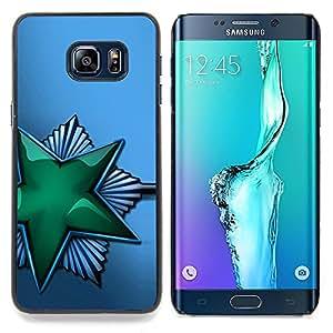 Green Shiny Star Soviet Caja protectora de pl??stico duro Dise?¡Àado King Case For Samsung Galaxy S6 Edge Plus