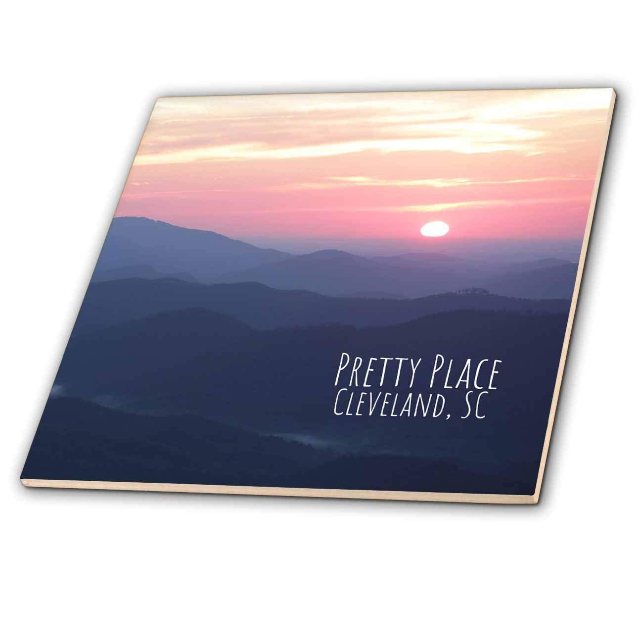 Cleveland Typography South Carolina - T-Shirts 3dRose Stamp City Breathtaking Sunrise at Pretty Place