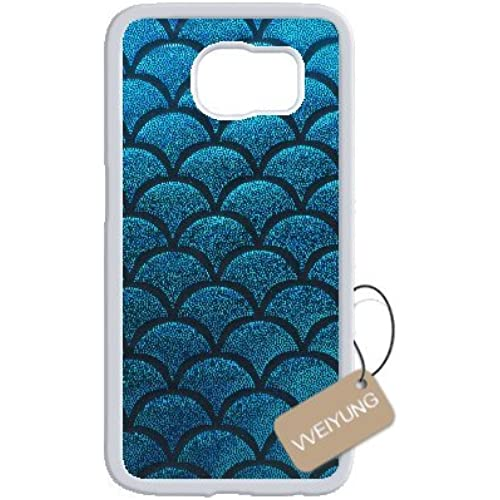 Diy Customized Cell Phone Case for Mermaid Scales White Samsung Galaxy s7 Hard Back Cover Shell Phone Case (Fit: Samsung Galaxy s7) Sales