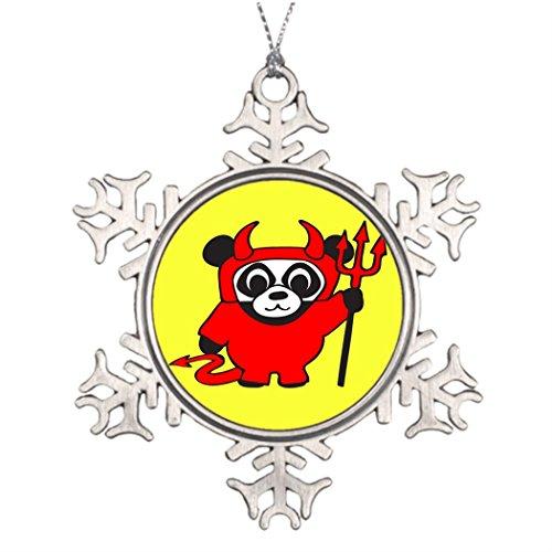 Making Your Own Devil Costume (Ai Vion Xmas Trees Decorated Panda - Devil - Snowman Snowflake Ornament)